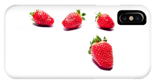 Four Strawberries IPhone Case