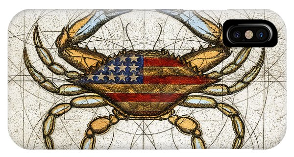 Fourth Of July Crab IPhone Case