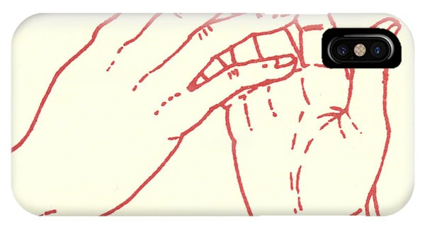 IPhone Case featuring the drawing Fourth Station- Jesus Meets His Mother by William Hart McNichols