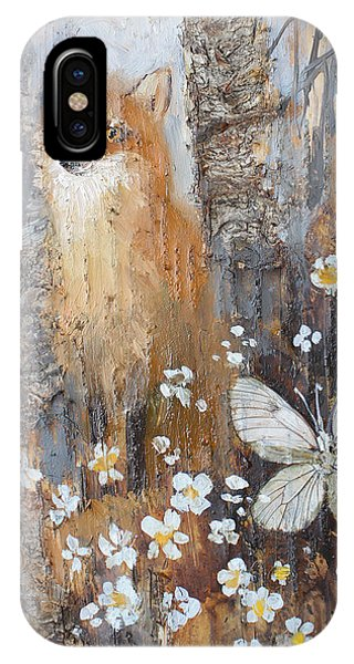 Fox And Butterfly IPhone Case