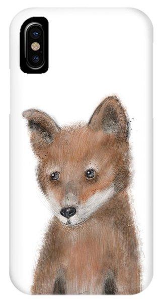 Wild Life iPhone Case - fox by Bri Buckley