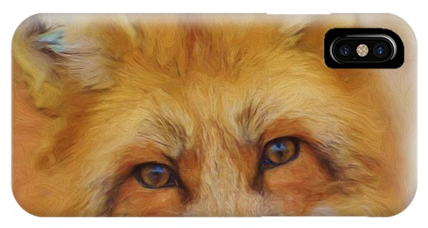 Fox Face Taken From Watercolour Painting IPhone Case