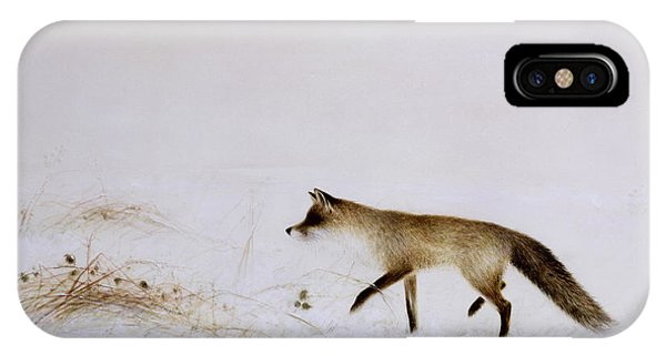 Fox In Snow IPhone Case