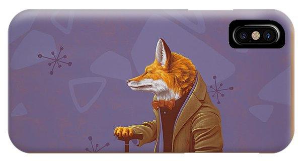 Figurative iPhone Case - Fox by Jasper Oostland