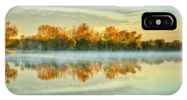 Fox River Above Mchenry Dam At Sunrise IPhone Case