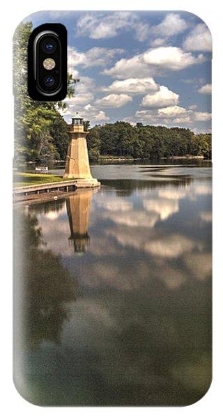 Fox River Lighthouse Geneva Illinois IPhone Case