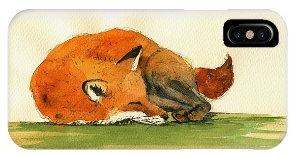 Fox Sleeping Painting IPhone Case