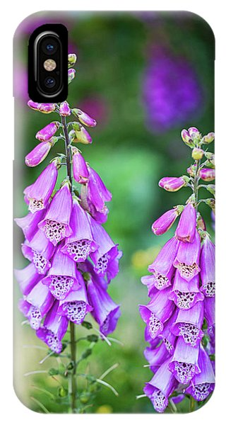 Foxglove Blooms IPhone Case