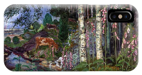 Exterior iPhone Case - Foxgloves by O Vaering