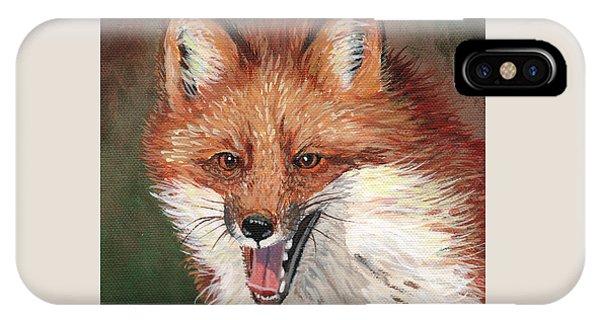 Cunning iPhone X Case - Foxy by Timithy L Gordon
