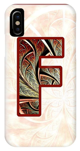 Artwork iPhone Case - Fractal - Alphabet - F Is For Fractal Creations by Anastasiya Malakhova