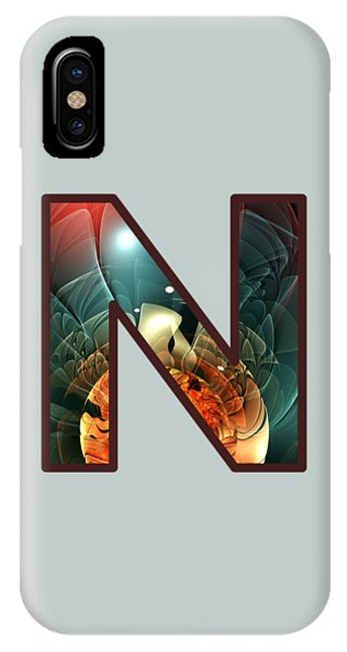 Fractal - Alphabet - N Is For Night Vision IPhone Case