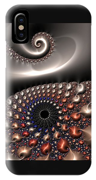 IPhone Case featuring the digital art Fractal Contact by Matthias Hauser