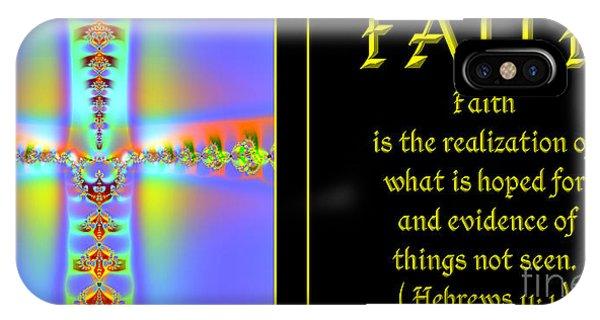 Fractal Faith Hebrews 11 IPhone Case