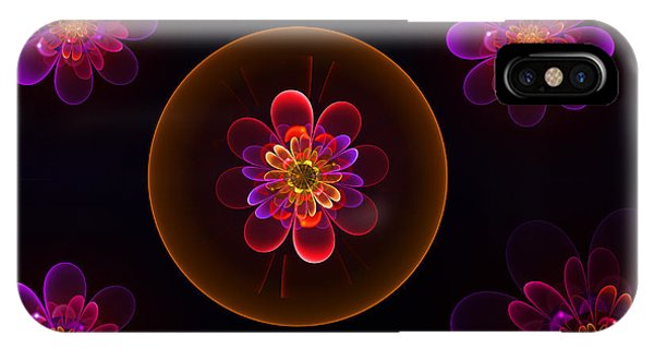 Fractal Flowers IPhone Case
