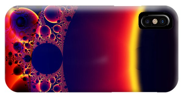 Fractal Galaxy Sunset  IPhone Case