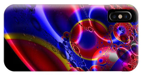 Fractal Luminescent Coloured Moon IPhone Case