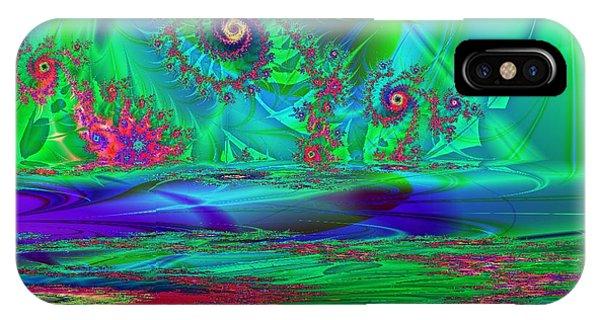 Fractal Reflections Phone Case by Sandra Bauser Digital Art