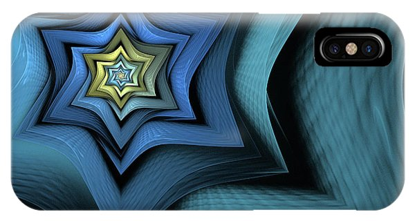Digital Effect iPhone Case - Fractal Star by John Edwards