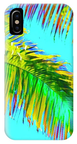 Fragment Of Coconut Palm Psychedelic IPhone Case