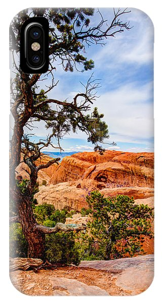 Hiking iPhone Case - Framed Arch by Chad Dutson
