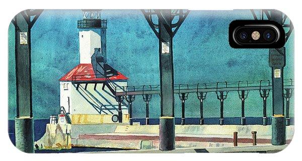 Framed Lighthouse IPhone Case