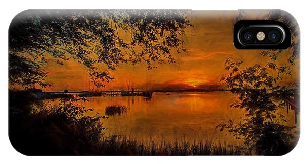 Framed Sunset IPhone Case