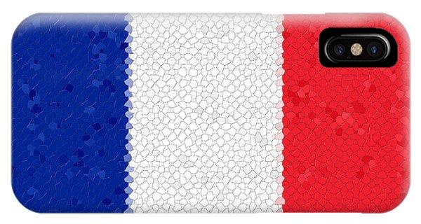France Flag Mosaic IPhone Case