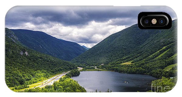 Franconia Notch And Eagle Lake IPhone Case