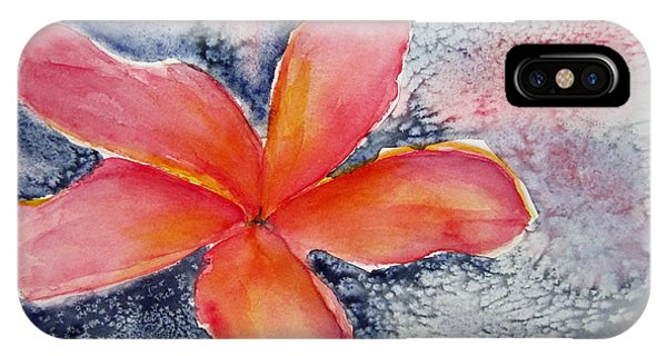 Frangipani Blue IPhone Case