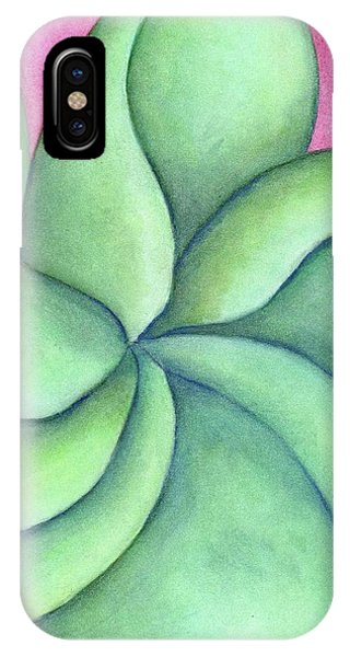 Frangipani Green IPhone Case