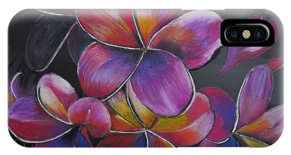 IPhone Case featuring the pastel Frangipani  by Richard Le Page