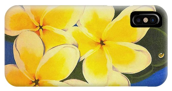 Frangipani With Lady Bug IPhone Case
