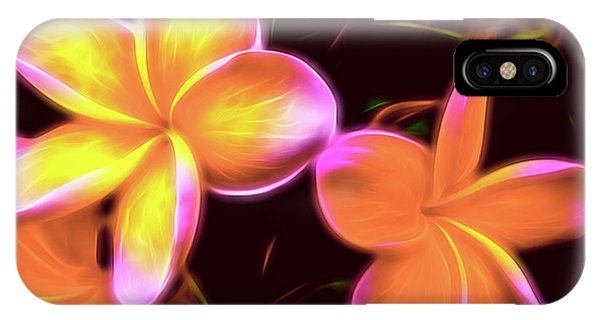 Frangipanis On The Glow IPhone Case