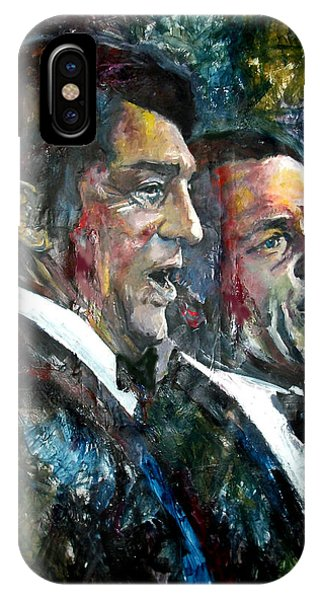Capitol iPhone Case - Frank Sinatra And Dean Martin by Marcelo Neira