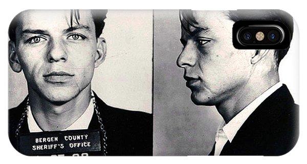 Frank Sinatra Mug Shot Horizontal IPhone Case