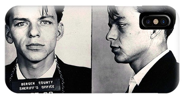 Frank Sinatra Mug Shot Horizontal IPhone Case