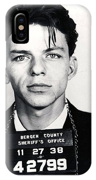 New Jersey iPhone Case - Frank Sinatra Mug Shot Vertical by Tony Rubino
