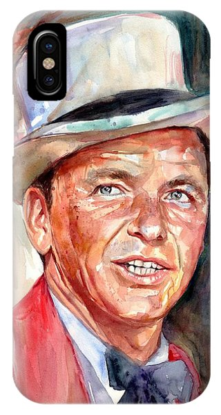 Frank Sinatra iPhone Case - Frank Sinatra Portrait by Suzann's Art