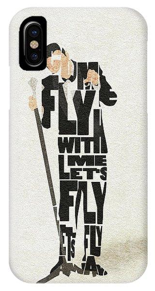 Frank Sinatra Typography Art IPhone Case