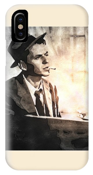 Frank Sinatra - Vintage Painting IPhone Case