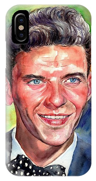 Frank Sinatra iPhone Case - Frank Sinatra Young Watercolor by Suzann's Art