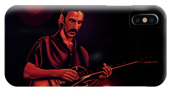 American Musician iPhone Case - Frank Zappa 2 by Paul Meijering