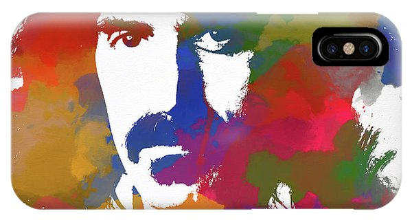 Frank Zappa iPhone Case - Frank Zappa Watercolor by Dan Sproul