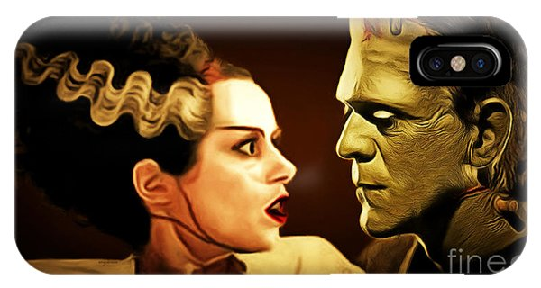 Wingsdomain iPhone Case - Frankenstein And The Bride I Have Love In Me The Likes Of Which You Can Scarcely Imagine 20170407 by Wingsdomain Art and Photography
