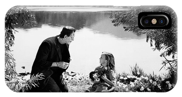 Frankenstein By The Lake With Little Girl Boris Karloff IPhone Case