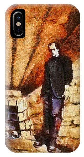 Dracula iPhone Case - Frankenstein, Classic Vintage Horror by Esoterica Art Agency
