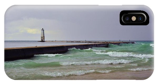 Frankfurt Lighthouse Breakwater IPhone Case