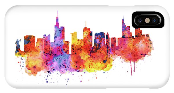 Frankfurt Skyline IPhone Case