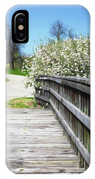 Botanical Garden iPhone Case - Franklin Park Conservatory Footbridge by Tom Mc Nemar